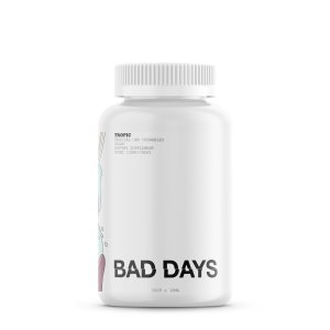 A bottle of Bad Days CBD Gummies