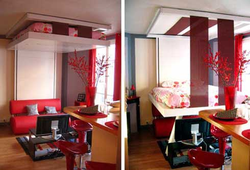 BedUp Ceiling Mounted Murphy Bed Saves Space Looks Cool Craziest Gadgets