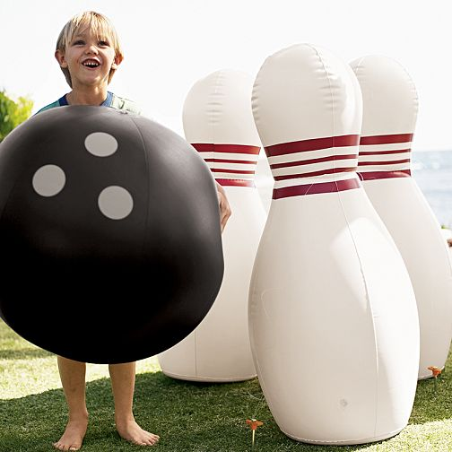kid in bowling ball costume