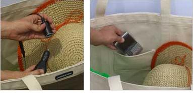 solar beach tote inside Juice Bag: Solar Powered Beach Tote Bag
