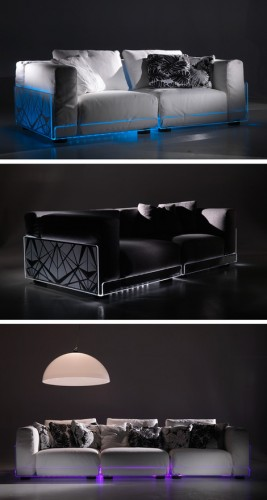 colico lighted sofa