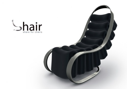 shair chair 500x353 Shair Chair is a Chair You Can Share With 8 People