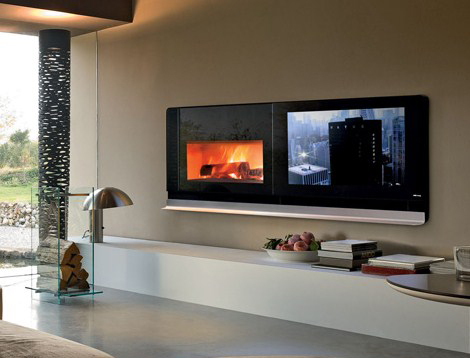 mcz fireplace tv scenario 1 Scenario Fireplace TV Solves the Television On Top of the Fireplace Problem