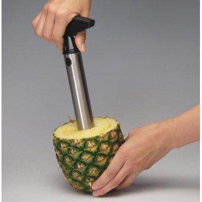 vacu vin pineapple slicer1 Vacu Vin Stainless Steel Pineapple Easy Slicer Quickly Cuts the Fruit