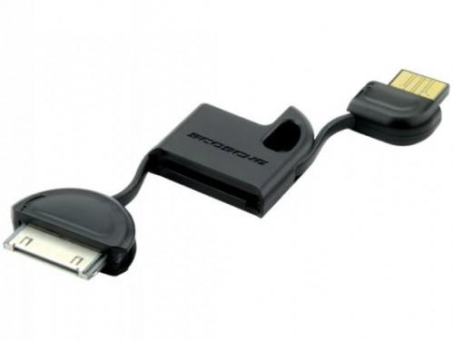 scosche flipsync open 500x375 Scosche FlipSYNC Keychain Sized iPod/iPhone Charger