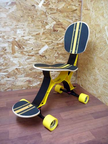 Skateboard Chair Rolls On Craziest Gadgets