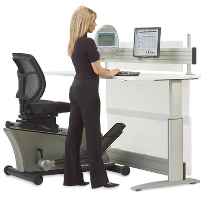 Workout While You Work with the Elliptical Machine Office