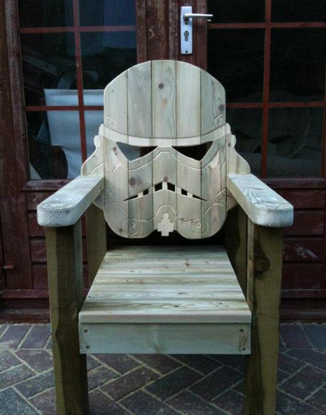 wooden skull chair office sams club badass adirondack craziest gadgets stormtrooper wood deck
