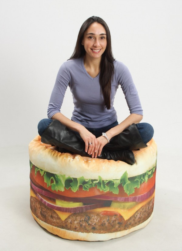 Hamburger Beanbag Chair Youre the Topping Craziest Gadgets