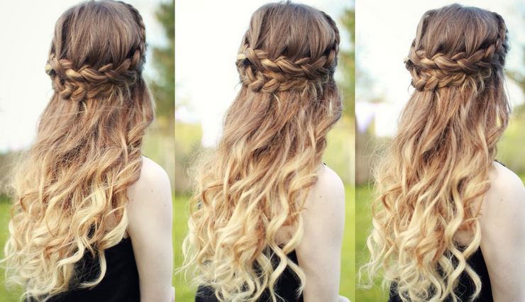 Half up and half down hairstyles