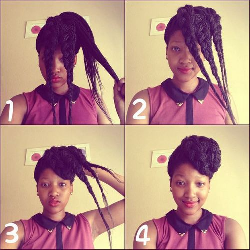 How to do a Bun with Box Braids