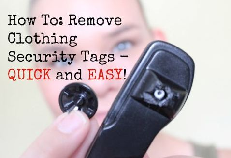 How to Remove Security Tag from Clothes