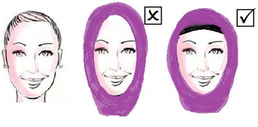hijab styles for long faces