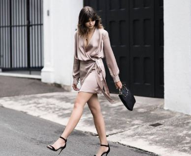 How to Wear a Wrap Silk Dress