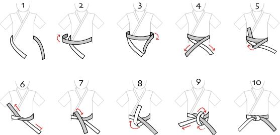 How do you Tie a Karate Belt