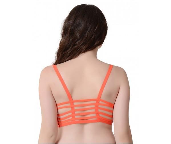 %orange six strap back bra
