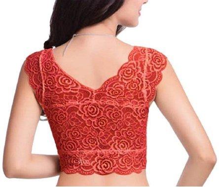%orange crop top cum blouse
