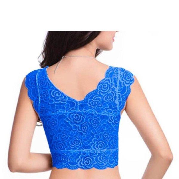 %blue crop top cum blouse