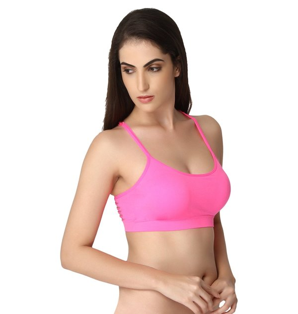 %butterfly rugged pink bralette