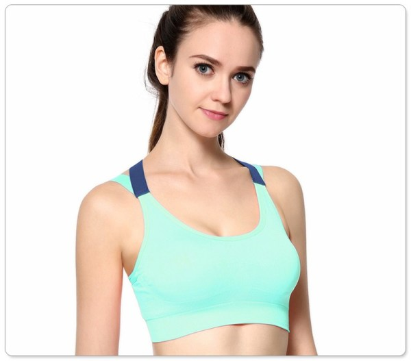 %Craziya cross back sports bra
