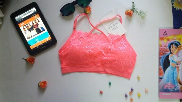%lace pink bra
