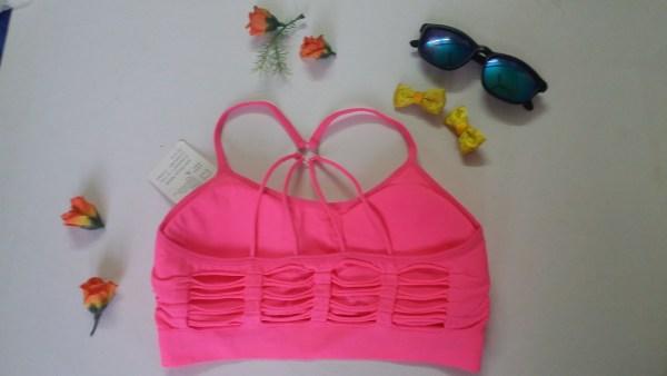 %rugged pyramid style racer pink bra
