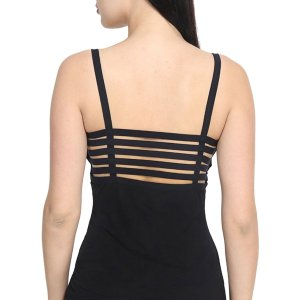 %back string cage black top