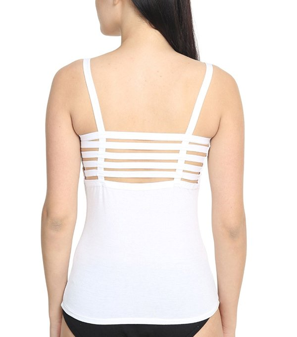 %back string cage white top