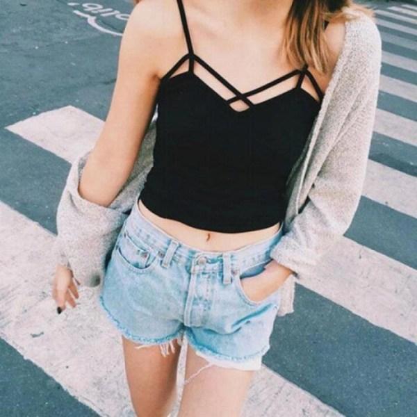 %front cross black bra