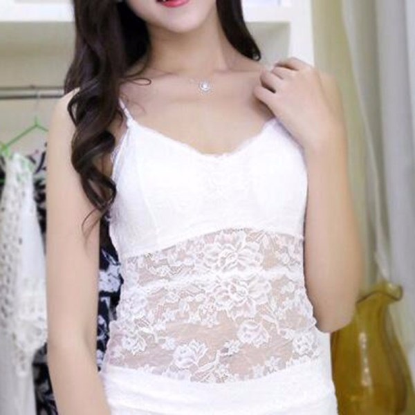 %white lace top