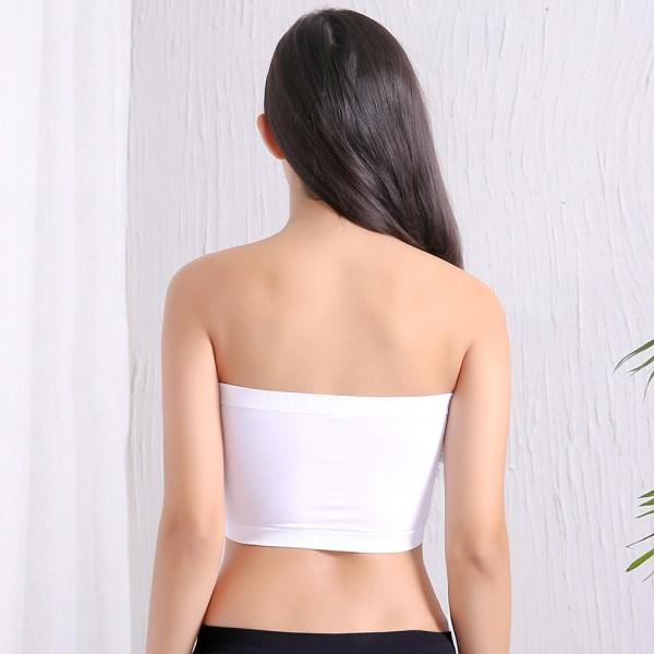 %white tube bra