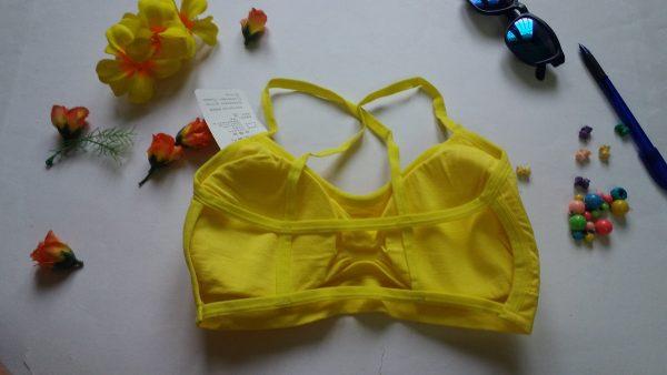 %yellow Back design bralette