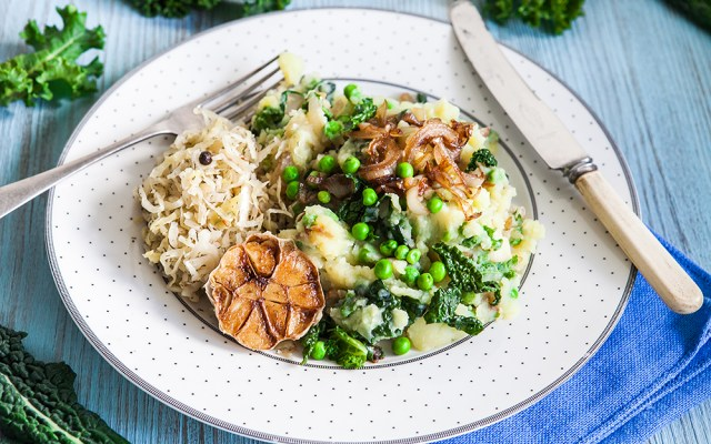 Colcannon or How to Turn Plain Mashed Potato into the Culinary Masterpiece. Vegan, GF Recipe