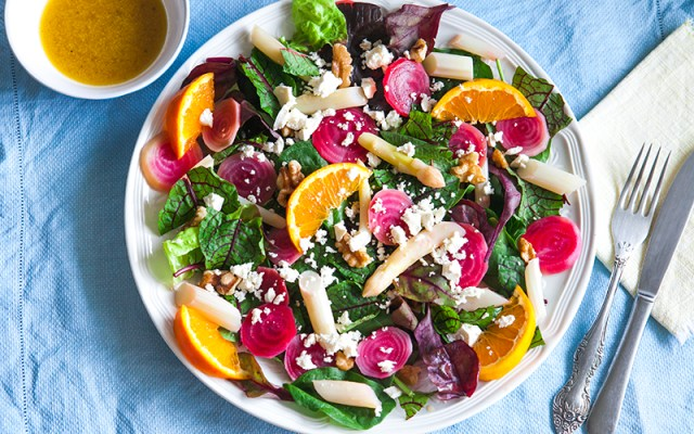 Citrus Gourmet Salad. Vegetarian, GF Recipe