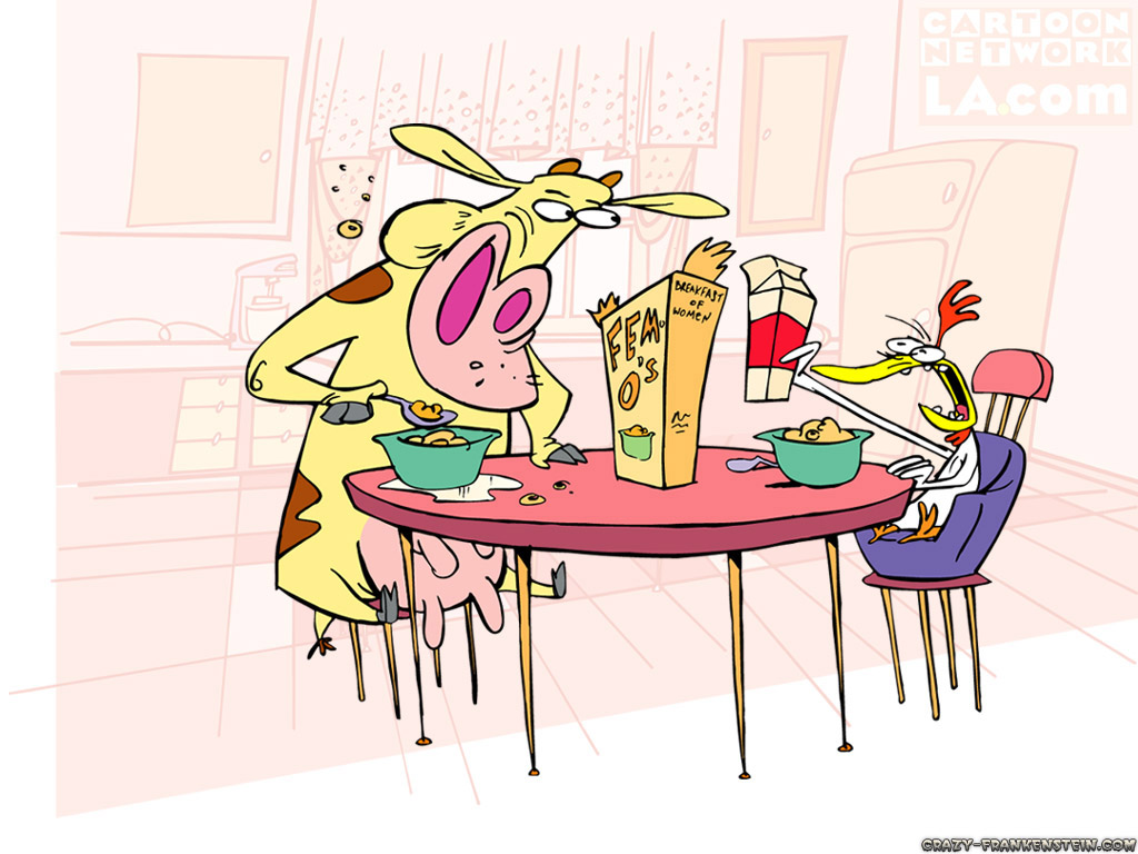 Wallpaper: Cow and Chicken wallpaper 3. Resolution: 1024x768. Size: 190 KB