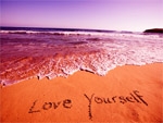 On beach Love yourself wallpapers
