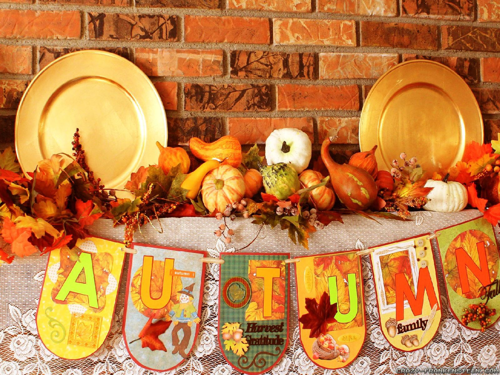 Fall Harvest Wallpaper 1024x768 Autumn Decorations Wallpapers Seasonal Crazy Frankenstein