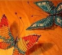 Как сделать бабочку из бисера своими руками