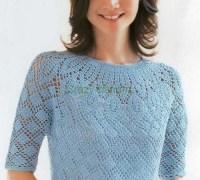 Голубая блузка своими руками