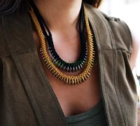 Стильное ожерелье своими руками