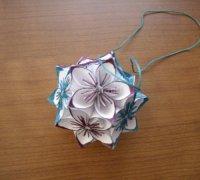 Оригами цветок kusudama