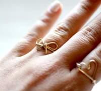 Кольцо в виде бантика своими руками