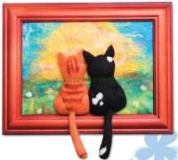 """Валяем """"Влюбленных котиков"""" своими руками"""
