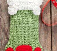 Рождественский носок — собачья лапка