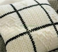 Как связать диванную подушку и плед крючком