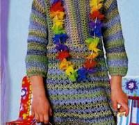 Полосатое платье-туника