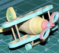 3D Объемный квиллинг: самолет-кукурузник из бумажных завитков