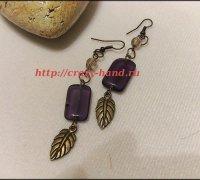 Мастер-класс: сережки «Фиолетовые перья»