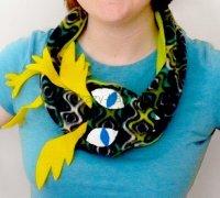 Шарф змея с карманом своими руками