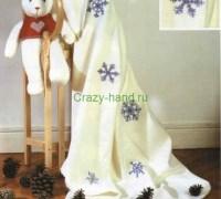 Снежинки — вышивка крестом